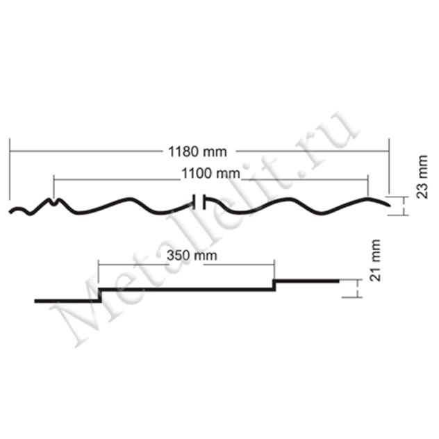 металлочерепица classic 0,5 мм satin