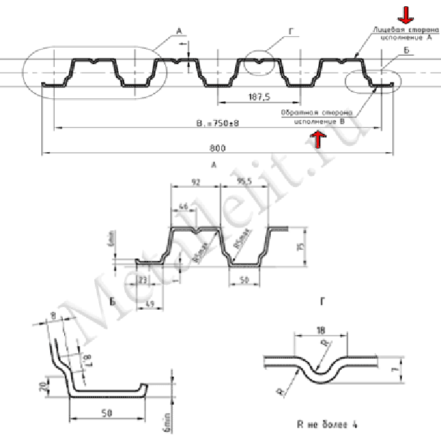 профнастил н75 0,6 мм полиэстер